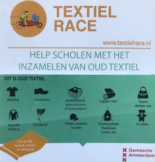 Textiel inleveren uiterlijk dinsdagmiddag a.s.