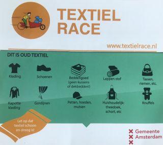 Help ons met de Textiel Race!